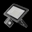 BULLED Fényvető LED 50W 4000K 4000Lm 230V állítható mozgásérzékelővel fekete IP44 ORNO