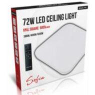LED Lámpatest 72W 3000-4000-6500K 5000Lm négyzet opál dimmelhető + távirányító (Sofia)