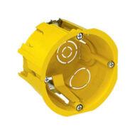 BIP szerelvénydoboz, gipszkartonhoz, 65x45 mm, IP20, sárga