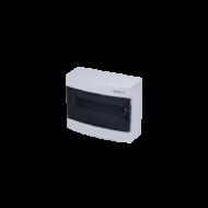 Elosztódoboz C sorozat, 1x12 modul, falon kívüli, átlátszó fekete ajtó, 287x236x112mm, IP40