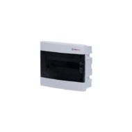 Elosztódoboz C sorozat, 1x18 modul, süllyesztett, átlátszó fekete ajtó, 392x232x70mm, IP40