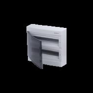 Elosztódoboz C sorozat, 2x18 (36) modul, süllyesztett, átlátszó fekete ajtó, 357 x 392 x 106mm, IP40