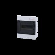 Elosztódoboz C sorozat, 1x8 modul, süllyesztett, átlátszó fekete ajtó, 211x232x70mm, IP40