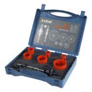 Körkivágó készlet (dobozban) HSS Bi-metál, 9db-os 19-22-29-38-44mm, (fa, műanyag,acél,alu,réz,vas)