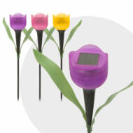 Tulipánlámpa LED-es szolár 1db