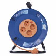 Dobos hosszabbító 40m 4 aljzattal MT 3x1,5mm2 narancssárga 3680W PVC dob IP20