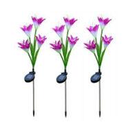 Lily LED napelemes (szolár) kerti virág lámpa, rózsaszín