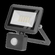 BULLED Fényvető LED 10W 4000K 800Lm 230V állítható mozgásérzékelővel fekete IP44 ORNO