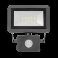 BULLED Fényvető LED 20W 4000K 1600Lm 230V állítható mozgásérzékelővel fekete IP44 ORNO