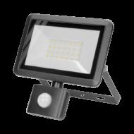 BULLED Fényvető LED 30W 4000K 2400Lm 230V állítható mozgásérzékelővel fekete IP44 ORNO