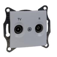 SEDNA TV/R aljzat, végzáró, 1 dB, fehér