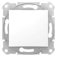 SEDNA Váltókapcsoló, rugós bekötés, 10AX, IP44, fehér (106)
