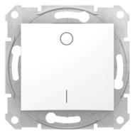SEDNA Kétpólusú kapcsoló, rugós bekötés, 10AX, fehér (102)