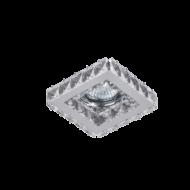 Beépíthető lámpatest IP 20, négyzet alakú, kristály