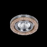 Beépíthető lámpatest IP20, kerek, arany, kristály