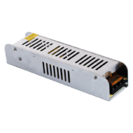 LED tápegység 12V DC 120W 10A IP20 188x47x38mm ipari fém ház SLIM BQ