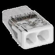 Wago összekötő kapocs 2x 0-2,5mm2 átlátszó 24A (Új) fehér