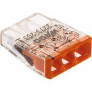 Wago összekötő kapocs 3x 0-2,5mm2 átlátszó 24A (Új) narancs