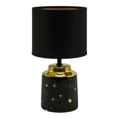 Asztali lámpa max:25W, E14, fekete, IP20, HELENA STRÜHM