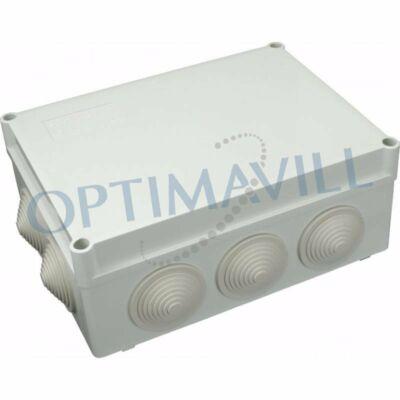 Kötődoboz gumis bevez. 190x140x70mm IP55 S-BOX (39-105)