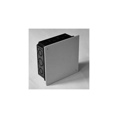 Kötődoboz+fedél perforált hőálló 650°C, fekete, 100x100x50mm