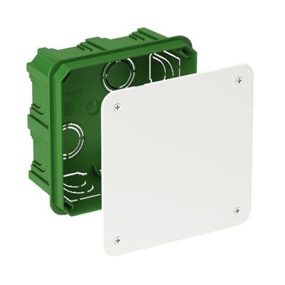 BIP kötődoboz fedéllel, téglafalhoz, szögletes, 100x100x48mm, IP30, zöld