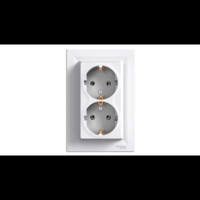 ASFORA 2x2P+F aljzat, csavaros bekötés, fehér