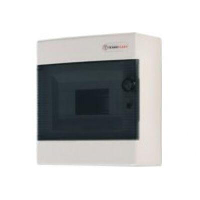 Elosztódoboz C sorozat, 1x8 modul, falon kívüli, átlátszó fekete ajtó,236 x 215 x 102mm, IP40