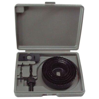 Körkivágó készlet fához (műanyag dobozban) 8db-os: 64, 76, 89, 102, 127mm