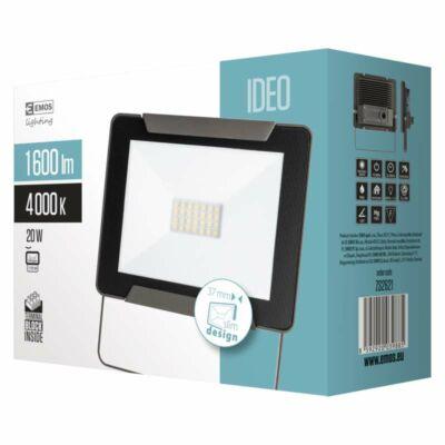 Fényvető LED 20W 4000K 1600Lm SMD vékony IP65 IDEO