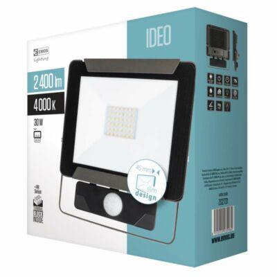Fényvető LED 30W 4000K 2400Lm mozgásérzékelős IP54 IDEO