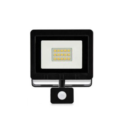 LED fényvető 10W 4500K 800Lm mozgásérzékelős SMD IP65 fekete 100x80mm 120°