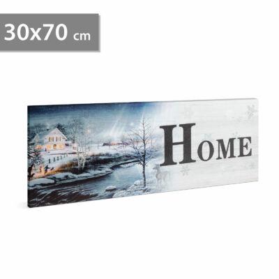 "LED-es falikép - ""HOME"" - 4 sárga + 15 fehér LED"