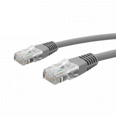 Patch kábel 8P/8C szürke 1m Cat.5e