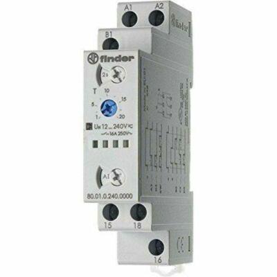 Időrelé multifunkciós 12-240V/AC/DC 0,1s-20h 1W