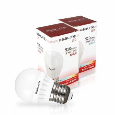 LED izzó 6W E27 4000K 510Lm G45 kisgömb ASAL0059
