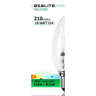 Halogén izzó 18W (25W) E14 gyertya világos ASAL0008
