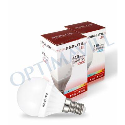 LED izzó 5W E14 4000K 410Lm G45 kisgömb ASAL0060