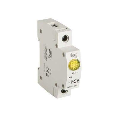 KLI-Y sárga visszajelző/kontroll lámpa 230VAC sínre IP20
