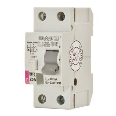 EFI-2P 25A 30mA A-típus áram-védőkapcsoló