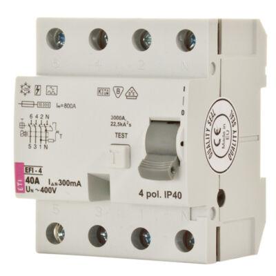EFI-4P 25A 30mA A-típus áram-védőkapcsoló