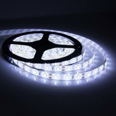 LED szalag öntapadó hideg fehér 60smd/m, 4,8W/m ,IP20 (05-34112/hideg)