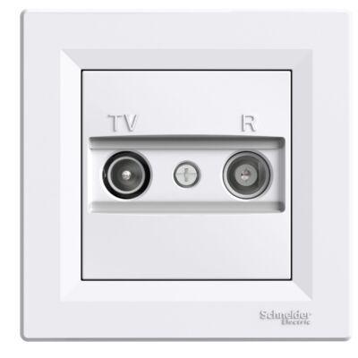 ASFORA TV/R aljzat, végzáró, 1 dB, fehér