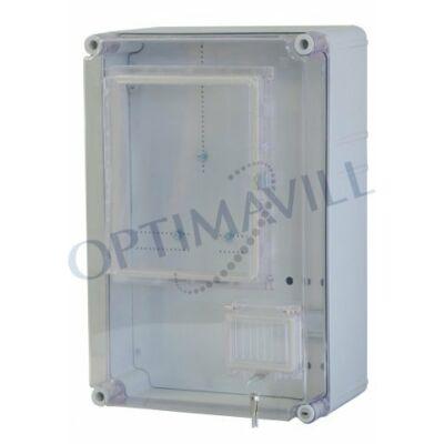 PVT EON 3045 1/3 Fm-AM fogy. mérő szekrény 1 vagy 3 fázis EM ablakkal 300x450x170