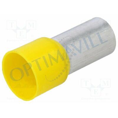 Érvéghüvely szigetelt 70mm2 21mm sárga