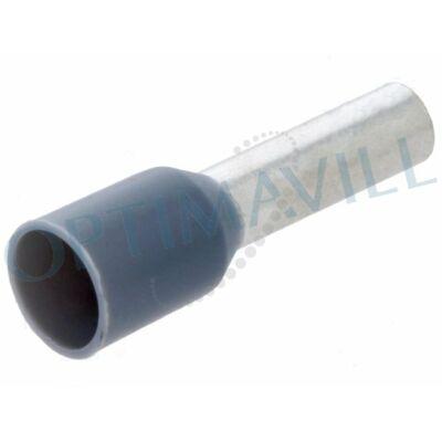 Érvéghüvely szigetelt 4mm2 10mm szürke (100db)