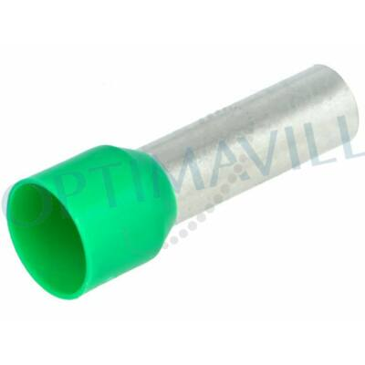 Érvéghüvely szigetelt 16mm2 18mm zöld (50db)