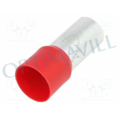 Érvéghüvely szigetelt 95mm2 25mm piros