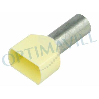 Érvéghüvely iker szigetelt 2x10mm2 14mm tojásszín (100db)
