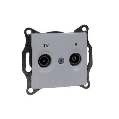 SEDNA TV/R aljzat, átmenő, 4 dB, fehér